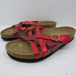 Birkenstock Strap Slides Leather Sandals Shoes 39